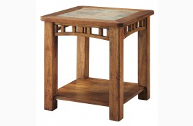 703327 Warm Brown End Table