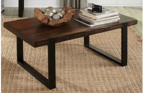 703428 Vintage Brown & Black Coffee Table