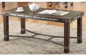 Sandblasted Brown Coffee Table