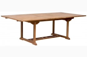 Regatta Natural Extendable Rectangular Dining Table