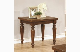 703577 Rustic Brown Square End Table