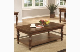 703578 Rustic Brown Rectangular Coffee Table