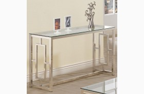 703739 Satin Nickel Sofa Table