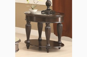 703847 Dark Merlot End Table