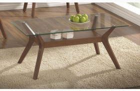 704168 Glass Top Coffee Table