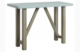 Concrete Top Sofa Table