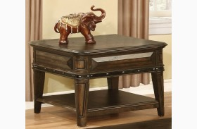 Dull Black End Table