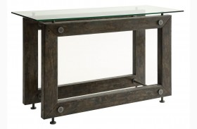 Tempered Glass Top Sofa Table