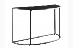 Black Glass Top Sofa Table