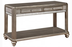 704619 Metallic Platinum Sofa Table