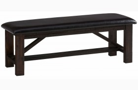 Kona Grove Rustic Chocolate Upholstered Bench