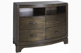Avalon III Pebble Brown Media Chest