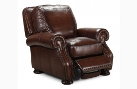 Carlton Antique Espresso Press Back Recliner