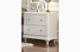 Stardust Iridescent White 2 Drawer Nightstand