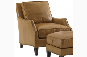 Kensington Place Ashton Brown Leather Chair