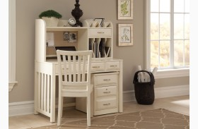 Hampton Bay White Writing Desk With Hutch