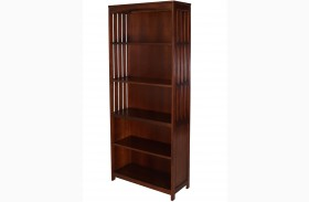 Hampton Bay Cherry Autumn Brown Open Bookcase