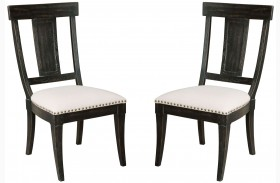 Stone Ridge Black Side Chair Set of 2
