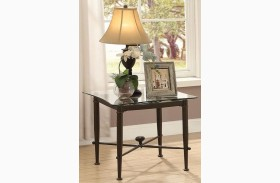 Antique Bronze End Table