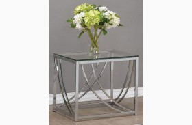 Chrome End Table