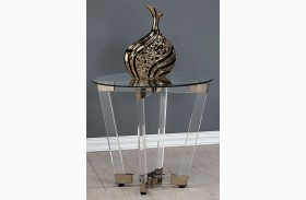 Chocolate Chrome and Clear Acrylic End Table