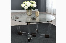 Chocolate Chrome and Clear Acrylic Coffee Table