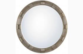 Laurel Canyon Beverly Silver Leaf Round Mirror