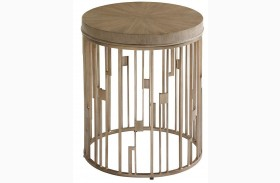 Shadow Play Studio Round Accent Table
