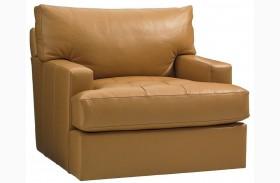 Island Fusion Osaka Leather Swivel Chair