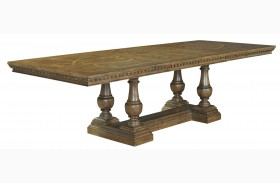 Stratton Medium Wood Extendable Trestle Dining Table