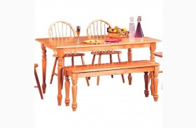 Damen Warm Natural Rectangular Dining Table