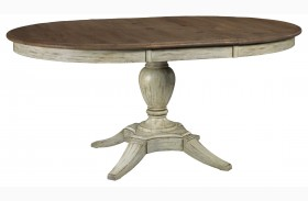 Weatherford Cornsilk Milford Extendable Round Dining Table