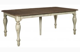 Weatherford Cornsilk Canterbury Extendable Rectangular Dining Table