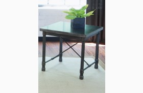Clayton Dark Charcoal Rub Thru End Table