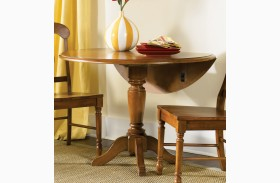 Low Country Bronze Drop Leaf Pedestal Table - Liberty Furniture