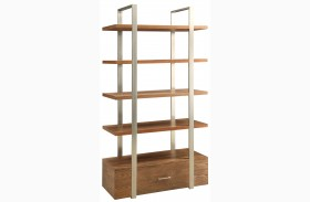 Lenox Medium Brown 1 Drawer Bookcase
