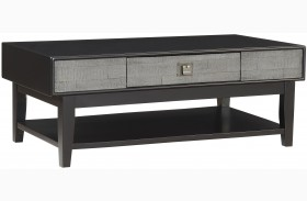 Linville Grey One Drawer Cocktail Table