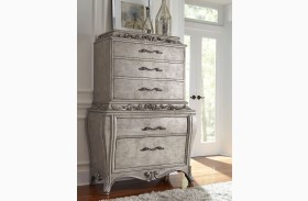 Rhianna Silver Patina Drawer Chest