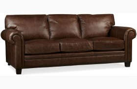 Hillsboro Chaps Havana Brown Leather Sofa