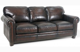 Hillsboro Stetson Coffee Leather Sofa