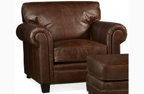 Hillsboro Chaps Havana Brown Leather Chair