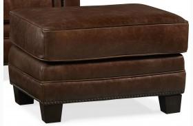 Hillsboro Chaps Havana Brown Leather Ottoman