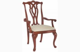 Cherry Grove Classic Antique Cherry Pierced Back Arm Chair