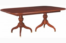 Cherry Grove Classic Antique Extendable Cherry Pedestal Dining Table