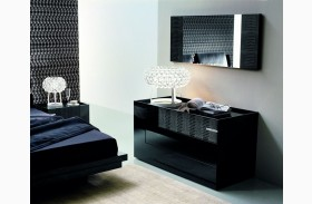 Diamond Black 3 Drawer Dresser