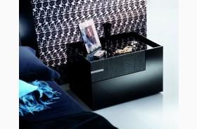 Diamond Black Right 2 Drawer Nightstand
