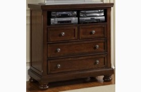 Reflections Dark Cherry 4 Drawer Entertainment Center
