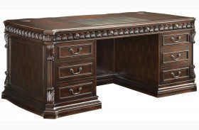 Union Hill Rich Brown Home Office Desk