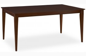 Open Seating Whiskey Brown Giorgio Rectangular Dining Table