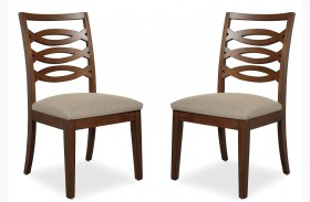 Claire de Lune Wood Back Side Chair Set of 2